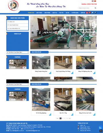 Thiết kế website Cơ khí WM 05