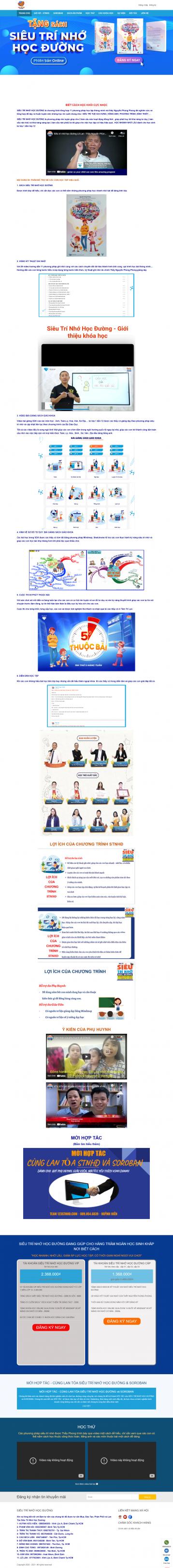 Thiết kế website Dạy học, Bồi dưỡng kiến thức WM 03
