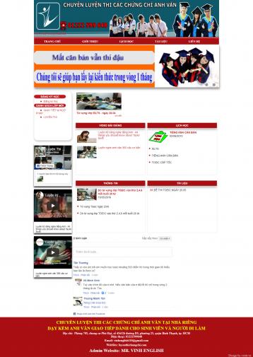 Thiết kế website Luyện thi chứng chỉ WM 01