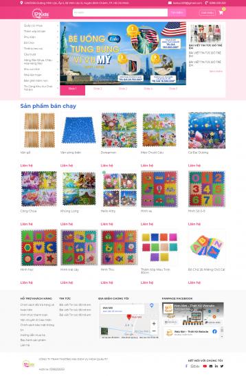 Thiết kế website Bán đồ trẻ em, quần áo trẻ em WM 01