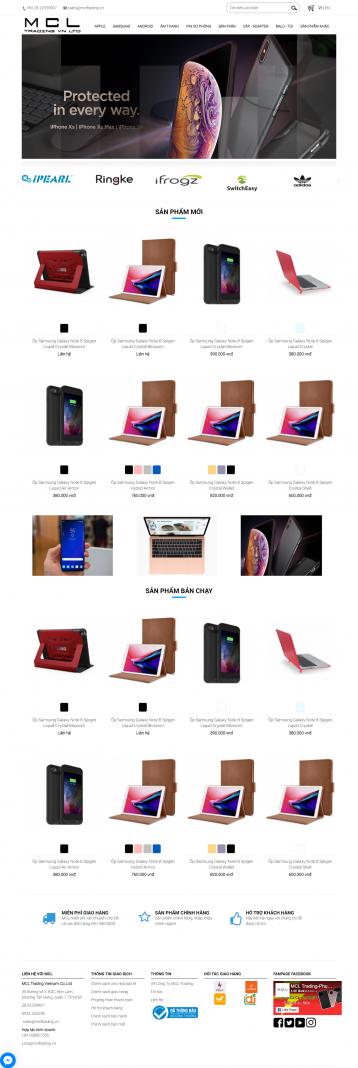 Thiết kế website Bán phụ kiện, các lại phụ kiện WM 02