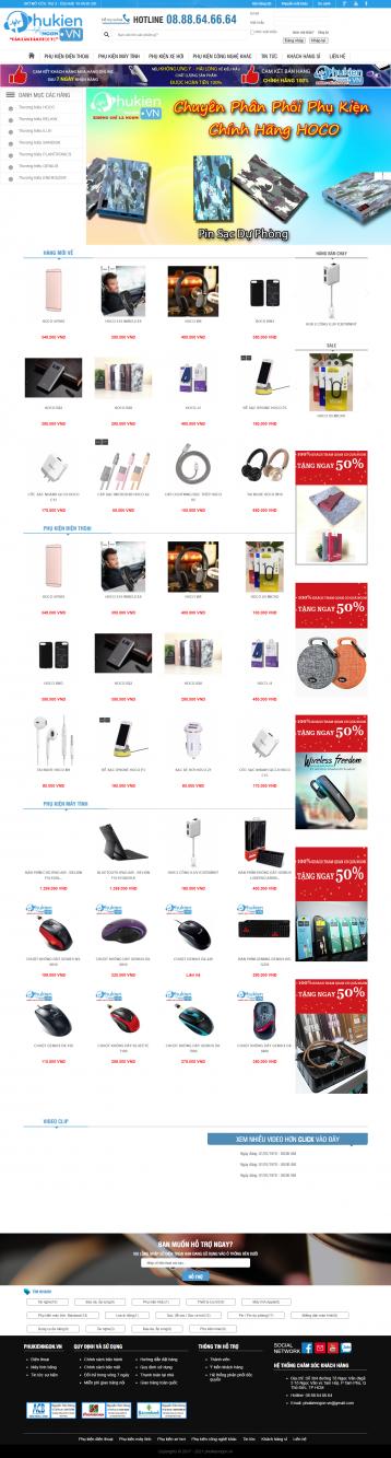 Thiết kế website Bán phụ kiện, các lại phụ kiện WM 03