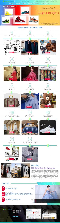 Thiết kế website Dịch vụ giặt ủi WM 01