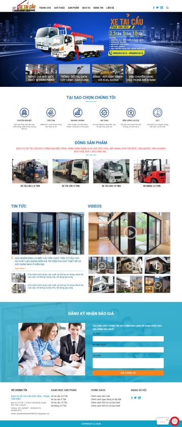 Thiết kế website Dịch vụ xe tải cẩu WM 01