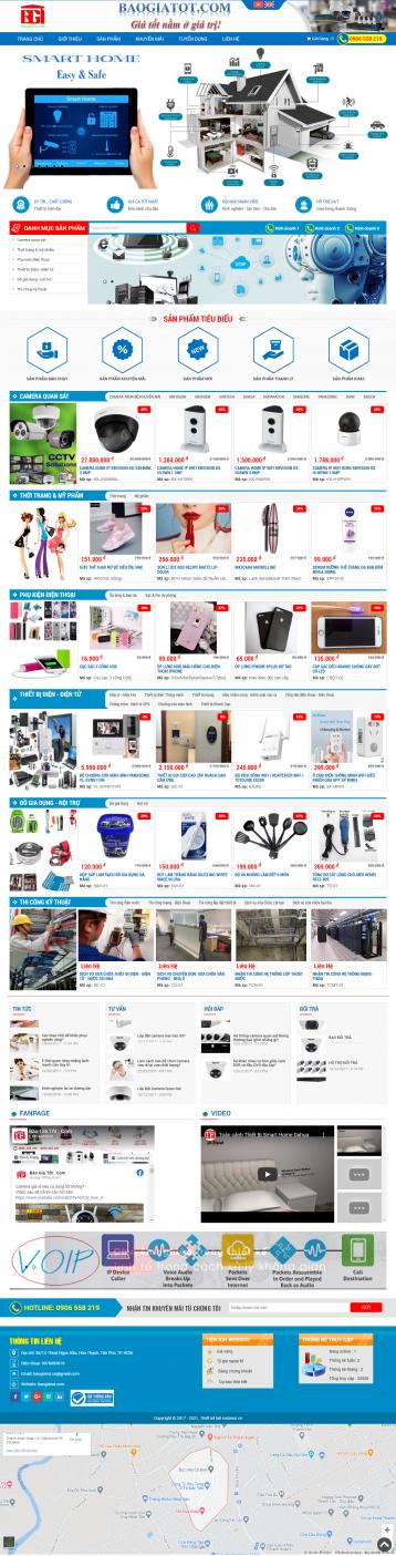 Thiết kế website Điện tử - Điện lạnh WM 02