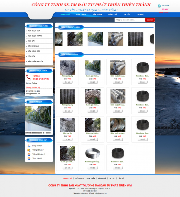 Thiết kế website Kẽm WM 01