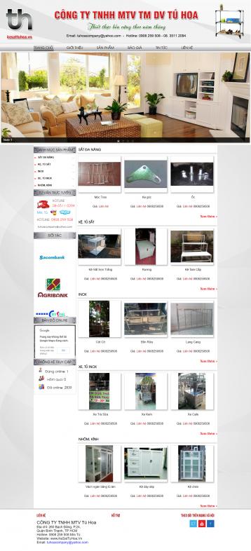 Thiết kế website Kệ sắt WM 01