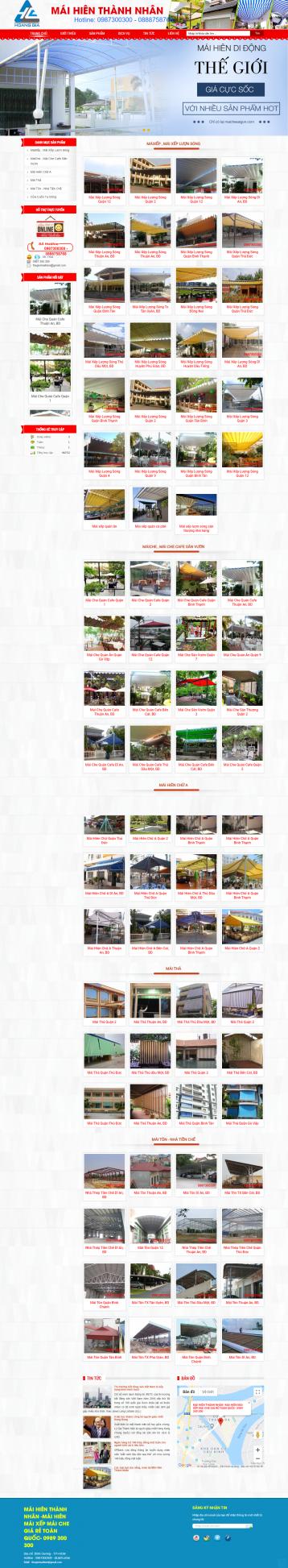 Thiết kế website Mái hiên WM 01