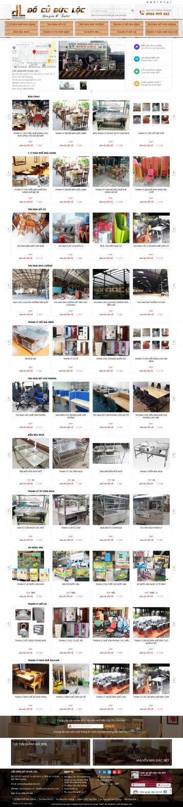 Thiết kế website Mua bán Đồ Cũ WM 01