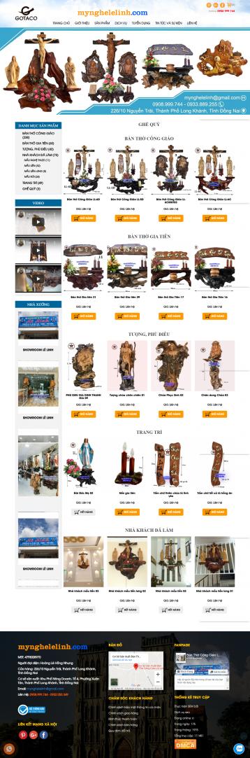 Thiết kế website Mỹ nghệ WM 01