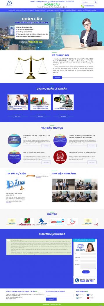 Thiết kế website Thanh lý tài sản WM 01