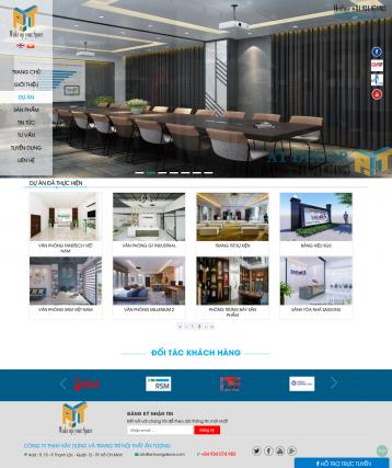 Thiết kế website Thiết kế nội thất WM 04