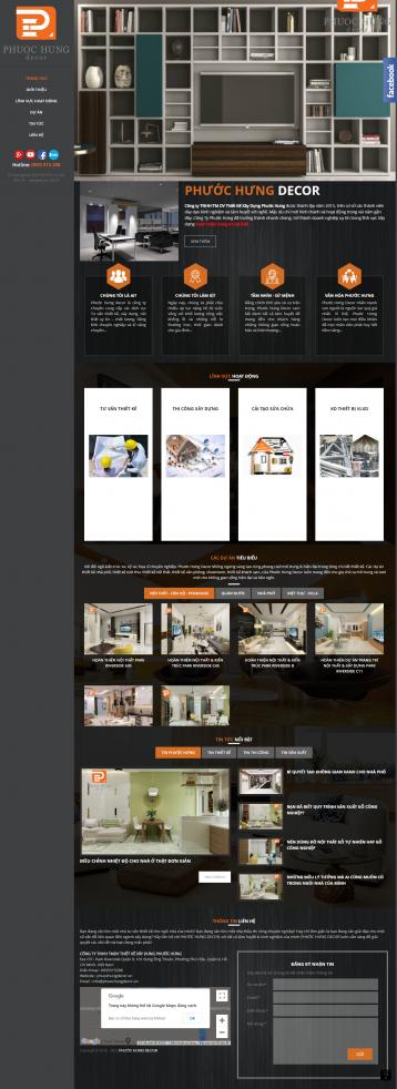 Thiết kế website Thiết kế nội thất WM 05