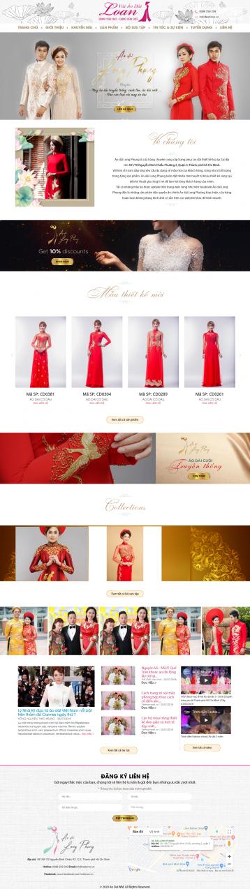 Thiết kế website thời trang Áo dài WM 01