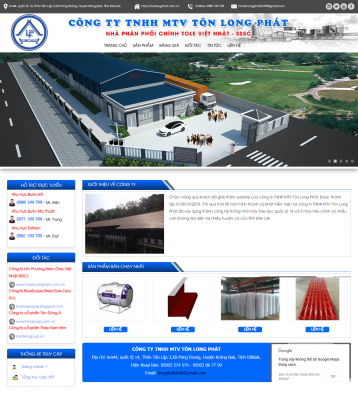 Thiết kế website Tôn WM 01
