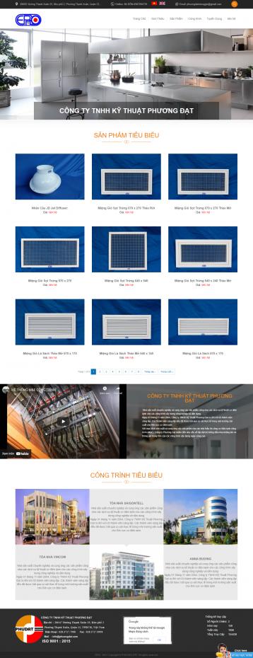 Thiết kế website Vật liệu xây dựng WM 04