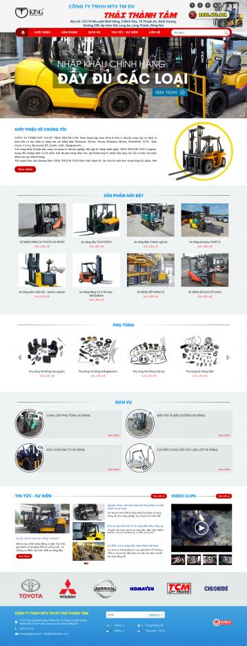 Thiết kế website Xe nâng WM 01