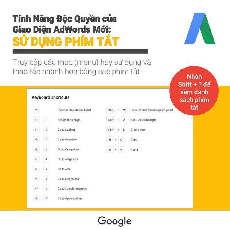 Giới thiệu giao diện sử dụng của Google ads 4