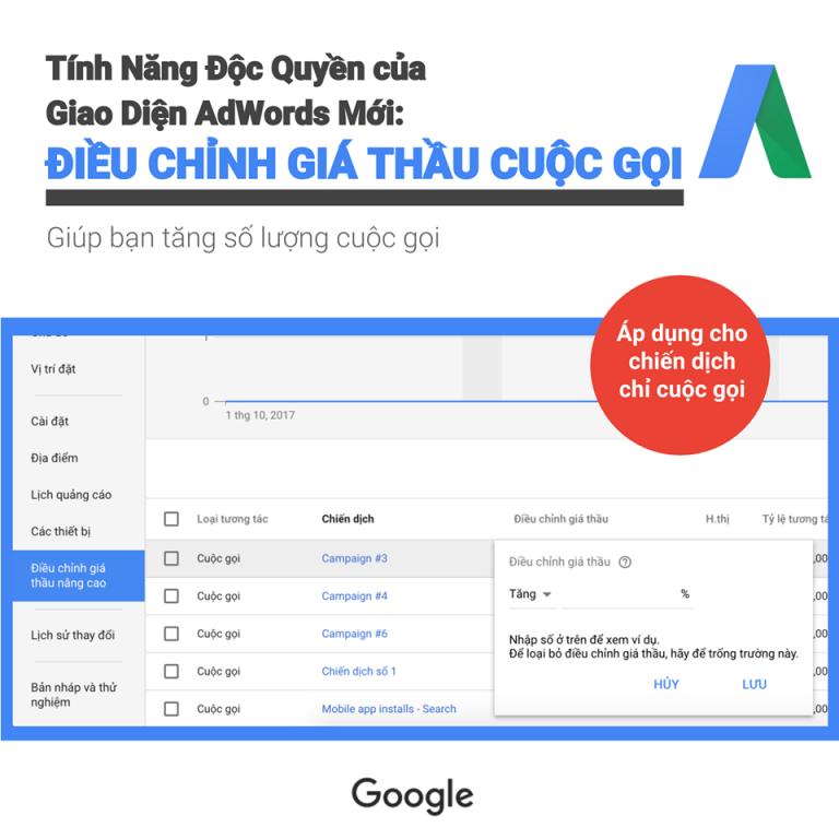 Giới thiệu giao diện sử dụng của Google ads 11