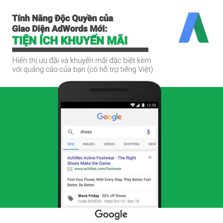 Giới thiệu giao diện sử dụng của Google ads 12