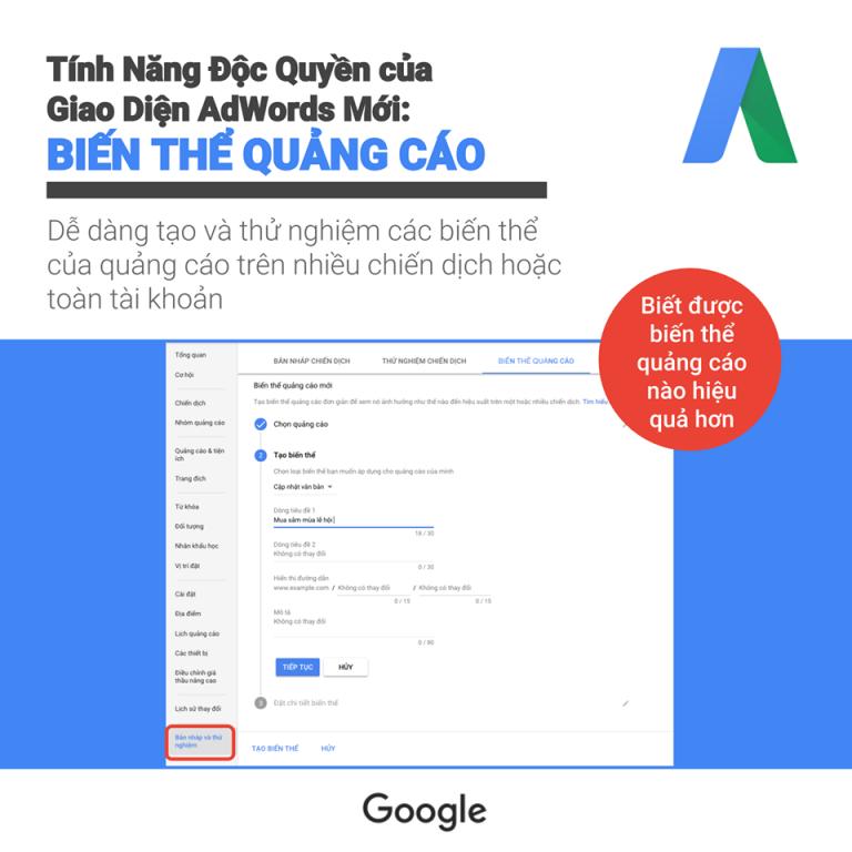 Giới thiệu giao diện sử dụng của Google ads 13