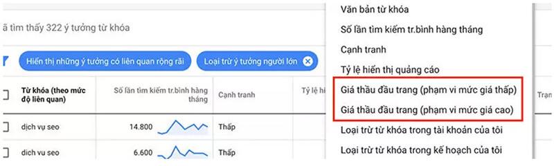 Hướng dẫn sử dụng google keyword planner 13