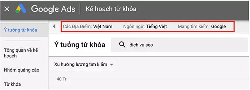Hướng dẫn sử dụng google keyword planner 6