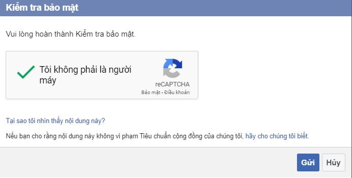 Kiểm tra bảo mật Quản lý bình luận facebook trên website